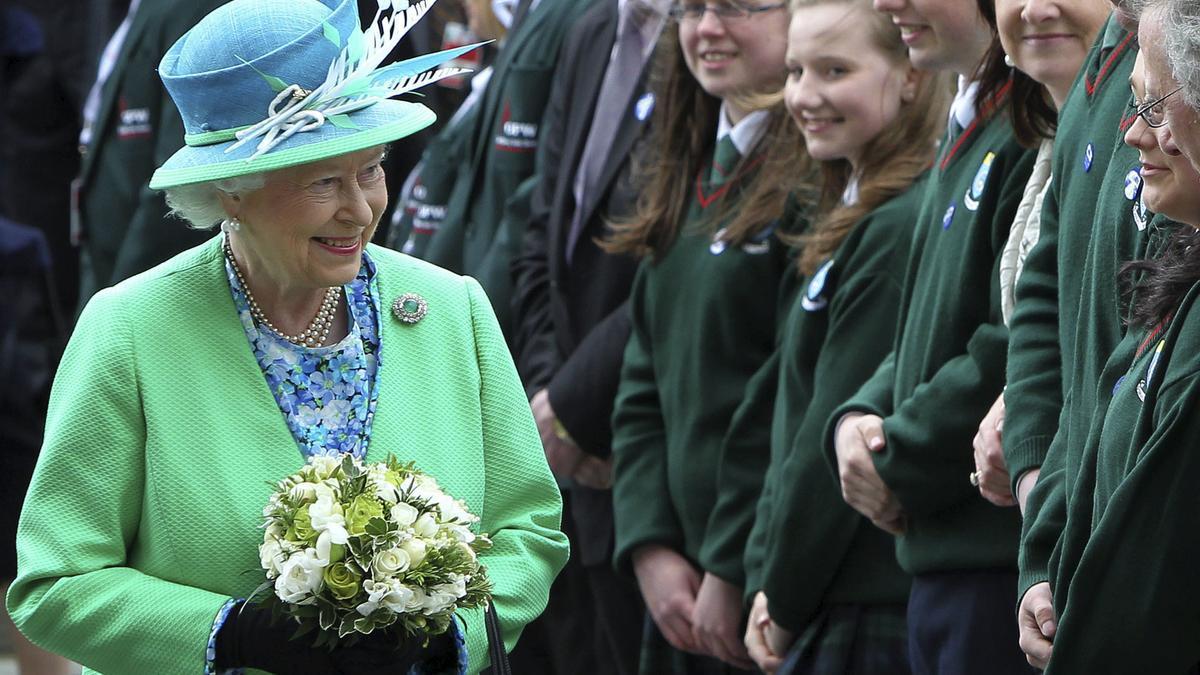 La reina Isabel II durante una visita a Irlanda en mayo de 2011.