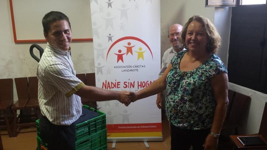 La cadena de supermercados Mercadona y el Comedor Social de Cáritas en Lanzarote inician una colaboración