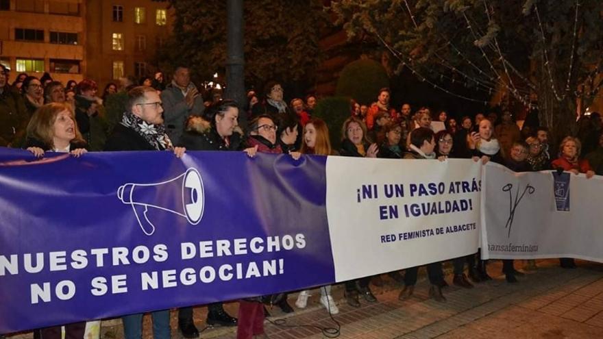 Concentración en Albacete el 15E