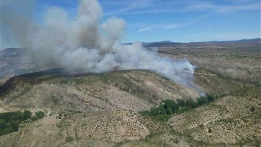Incendio en Vallanca.