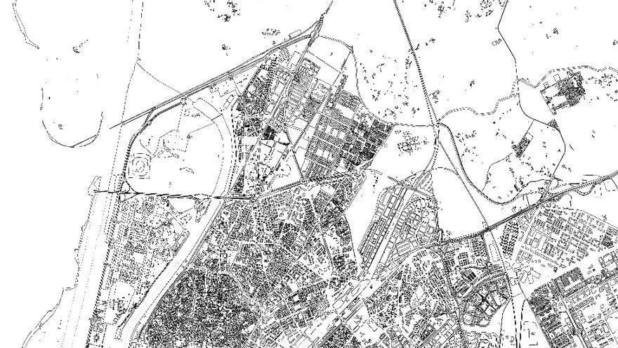 Ubicación del Polígono Sur en la ciudad de Sevilla a partir de la cartografía de la Gerencia de Urbanismo del Ayuntamiento / Comité René Cassin