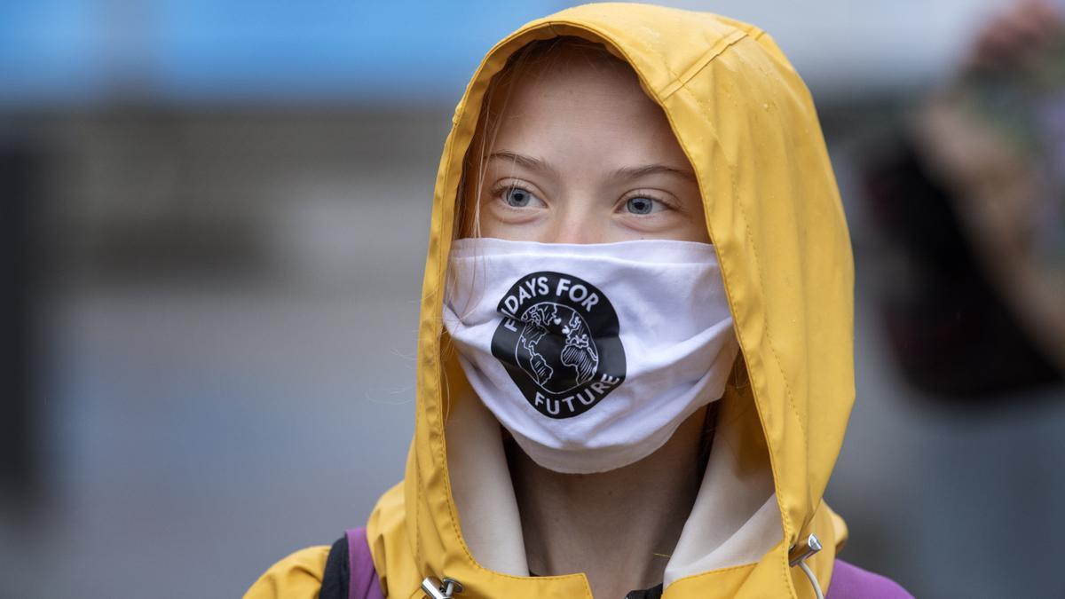 La joven activista sueca Greta Thunberg