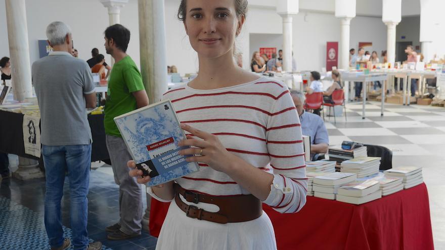 Audrée Wilhelmy (Quebec, Canadá), autora de la novela Las Sangres en el festival de música y literatura Bookstock de Sevilla