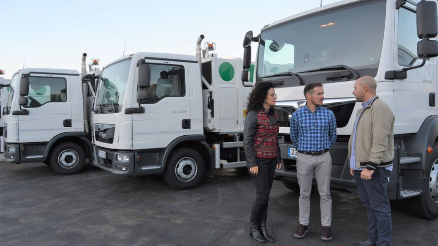 Presentación de los nuevos camiones.