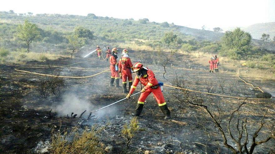 Incendio en Humanes, Guadalajara. Foto: UME | Twitter