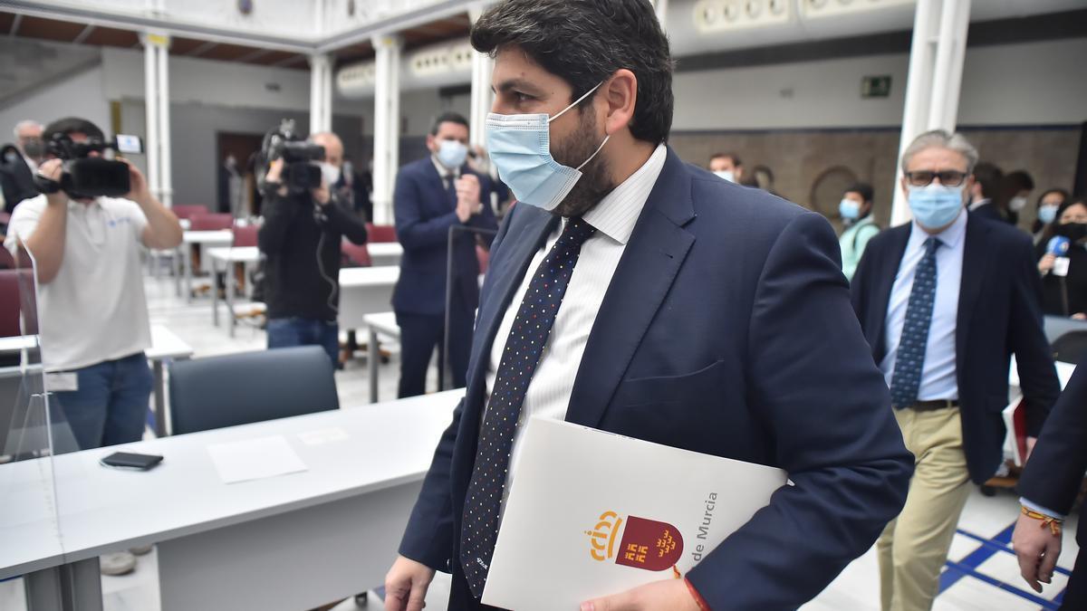 El presidente del Gobierno de Murcia, Fernando López Miras