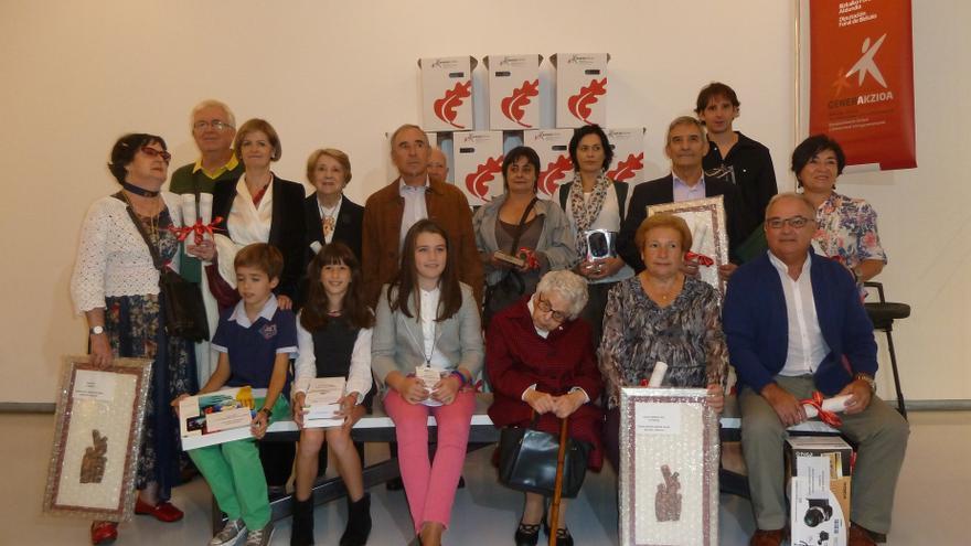 La Diputación vizcaína recibe a las personas ganadoras del concurso para mayores