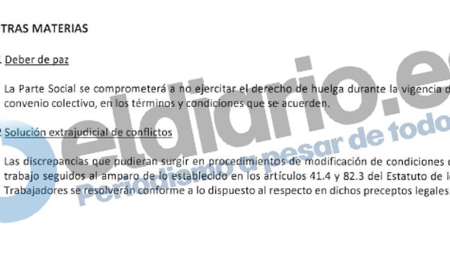 Artículo en el que Metro de Madrid propone limitar el derecho de huelga en la propuesta de convenio colectivo del 2016