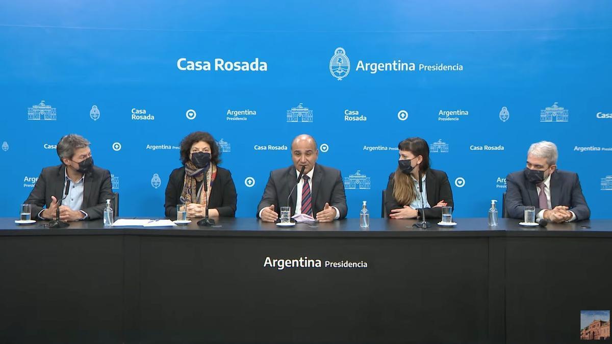 El gobierno hizo anuncios desde Casa Rosada.