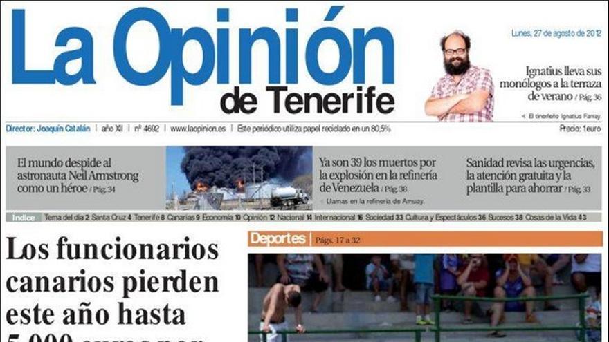 De las portadas del día (27/08/2012) #5
