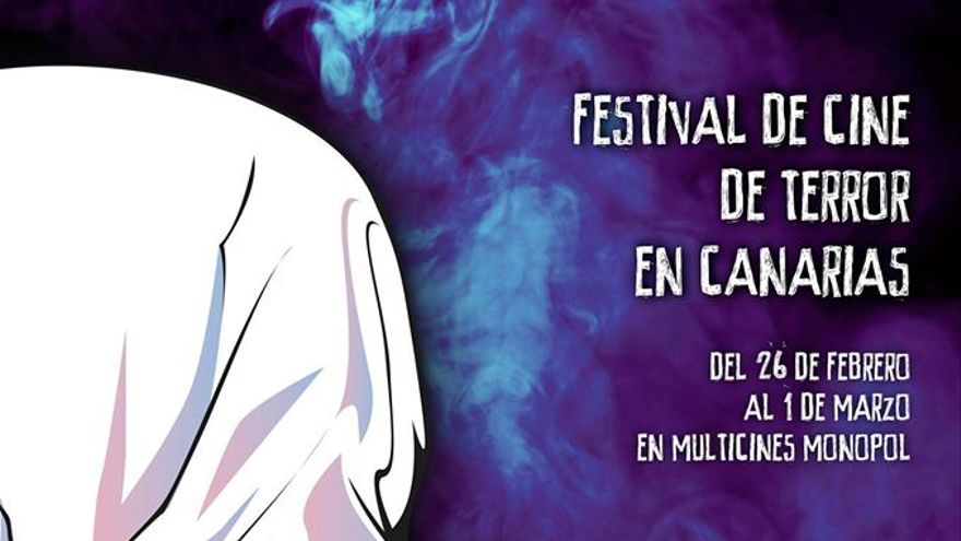 Cartel de promoción de NowOrNever, Festival Internacional de Terror de Canarias . Imagen: Facebook NowOrNever