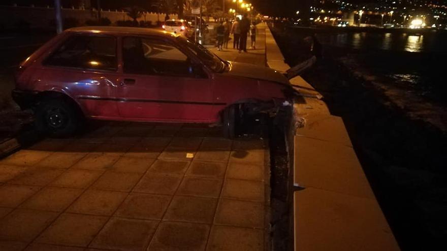 En la imagen, el vehículo accidentado.