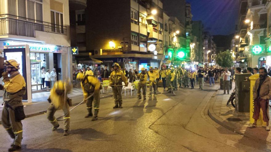 Manifestación en Cuenca de los trabajadores de las BRIF