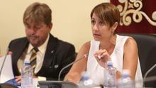 Onalia Bueno, alcaldesa del Ayuntamiento de Mogán, en un pleno del Consistorio