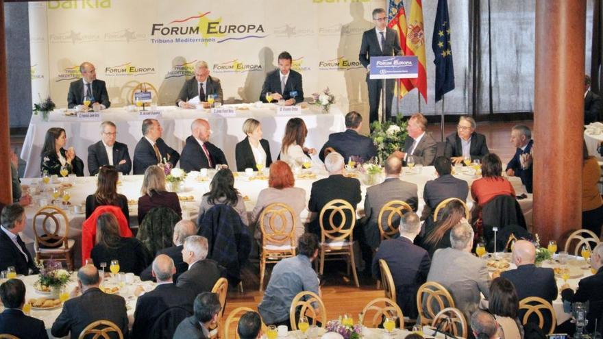 El conseller Arcadi España participa en el Fórum Europa de Nueva Economía.
