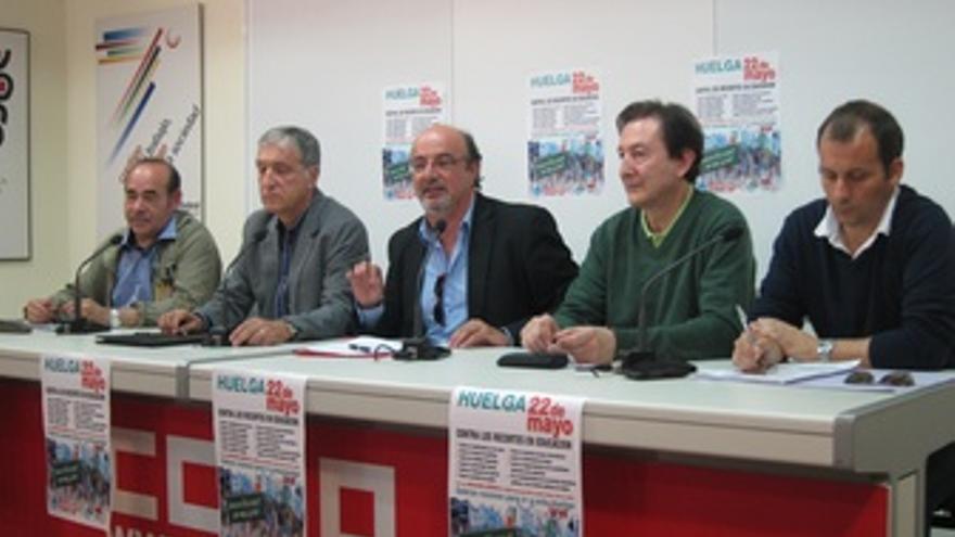 Rueda De Prensa Sobre El Seguimiento De La Huelga De Educación