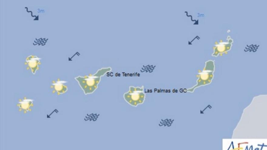 Cielos despejados con posibilidad de calima para este viernes en Canarias.