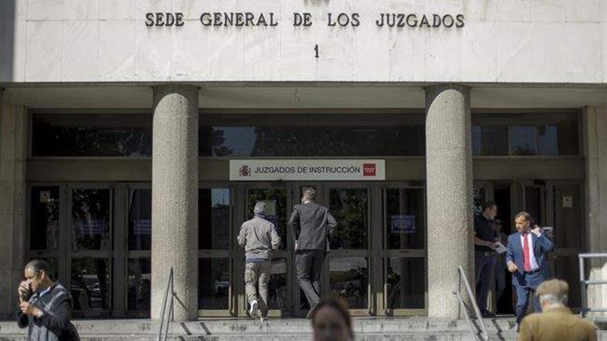 Entrada de los juzgados de Plaza de Castilla. / EP