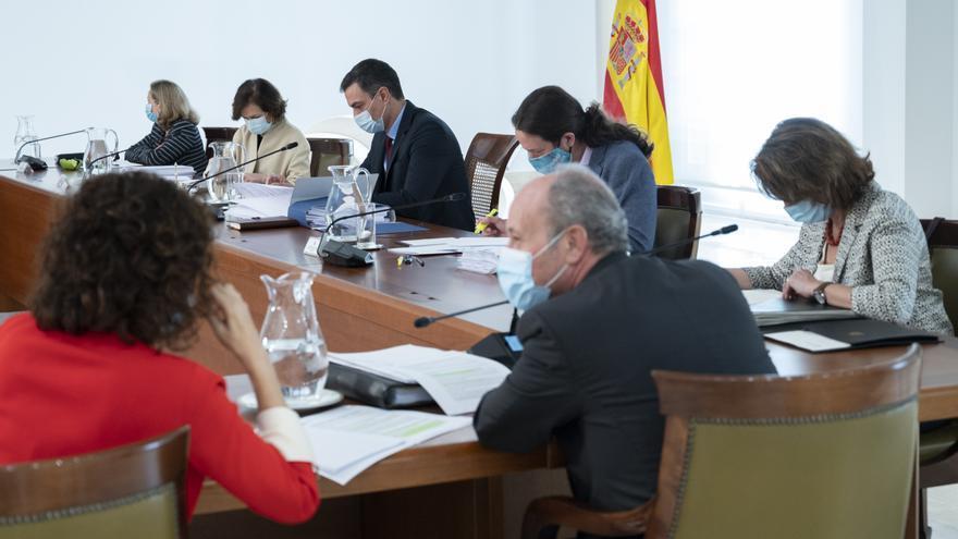 El presidente del Gobierno, Pedro Sánchez, en na reunión del Consejo de Ministros