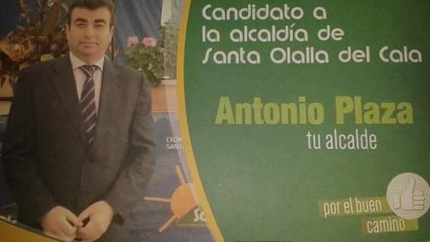 Cartel de Precampaña del PP en Santa Olalla