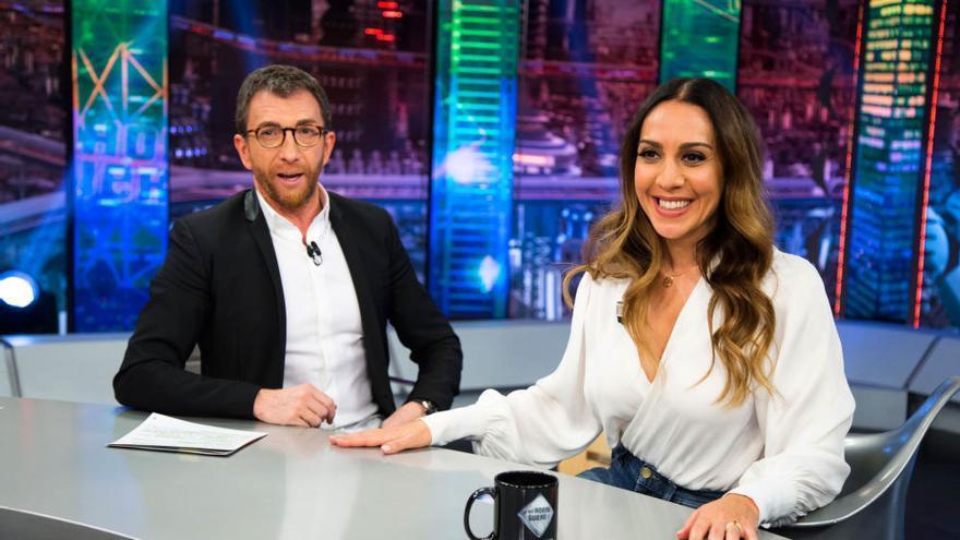 Pablo Motos y Mónica Naranjo, en El Hormiguero