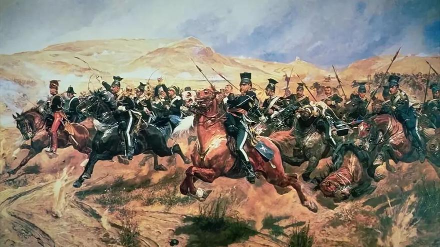 'Carga de la Brigada Ligera'. Cuadro de Richard Caton Woodville.