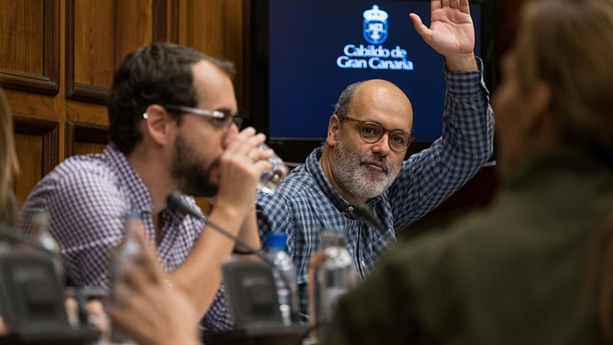 Juan Manuel Brito cuando era consejero en el Cabildo de Gran Canaria