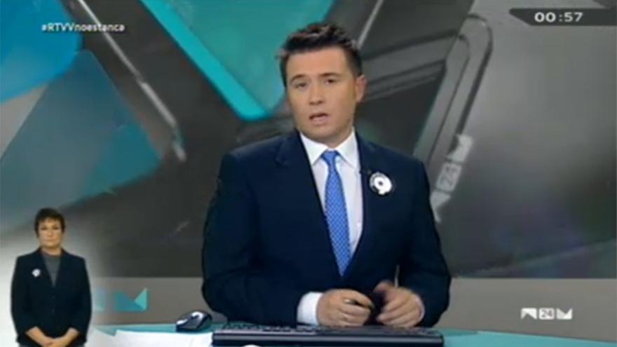 Frederic Ferri en el informativo de media noche de Canal 9