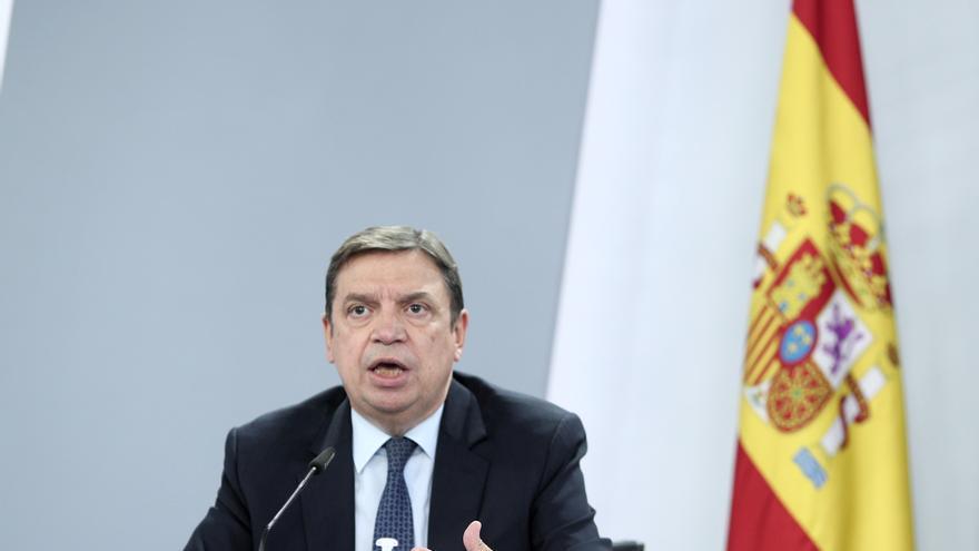 Imagen de archivo del ministro de Agricultura, Pesca y Alimentación, Luis Planas, en una rueda de prensa