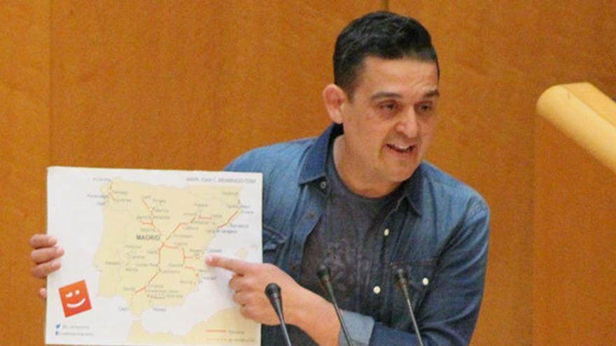 Carles Mulet, en una intervención en el Senado.
