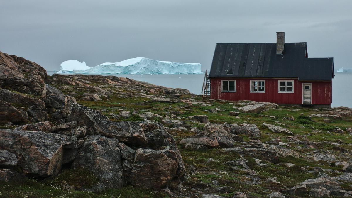 Una casa en la localidad de Ittoqqortoormiit, en la costa este de Groenlandia.