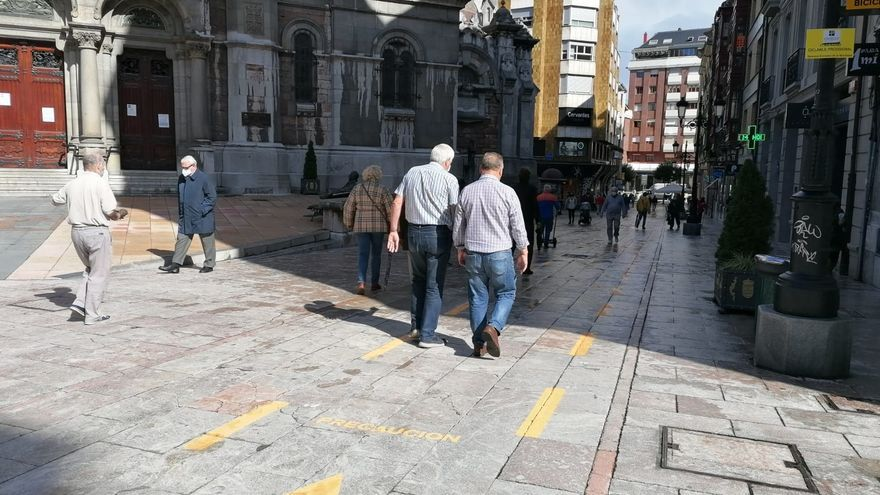 Una calle de Oviedo