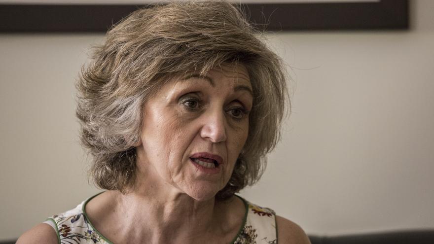 La Alta Comisionada para la lucha contra la pobreza infantil, Luisa Carcedo, en Moncloa