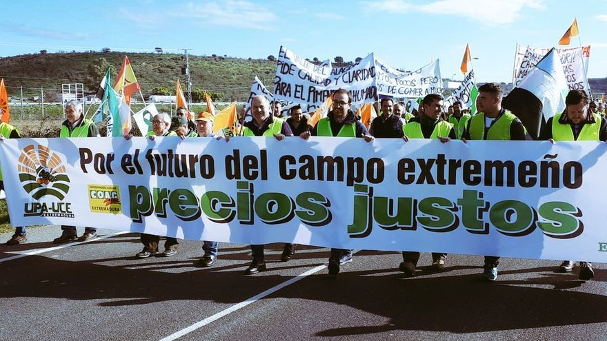 Cortes agricultores Extremadura