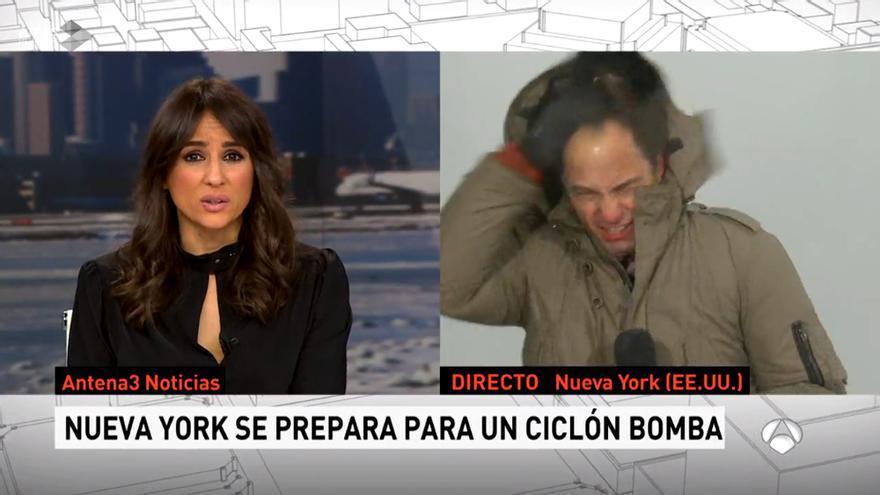 José Ángel Abad en su conexión en Antena 3