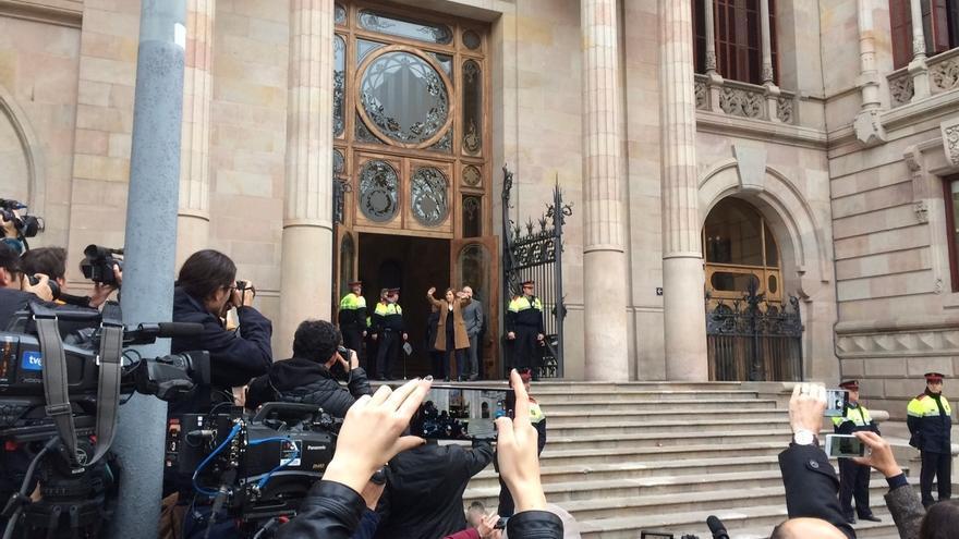 Forcadell declara media hora ante el TSJC por su supuesta desobediencia al TC