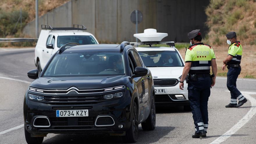 Control de los Mossos en Lleida