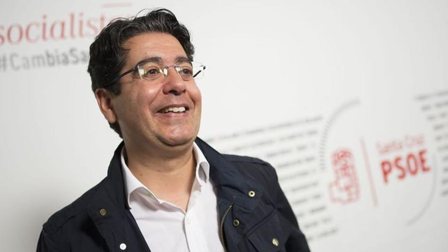 Retrato de Pedro Martín, en la sede socialista del municipio de la capital tinerfeña