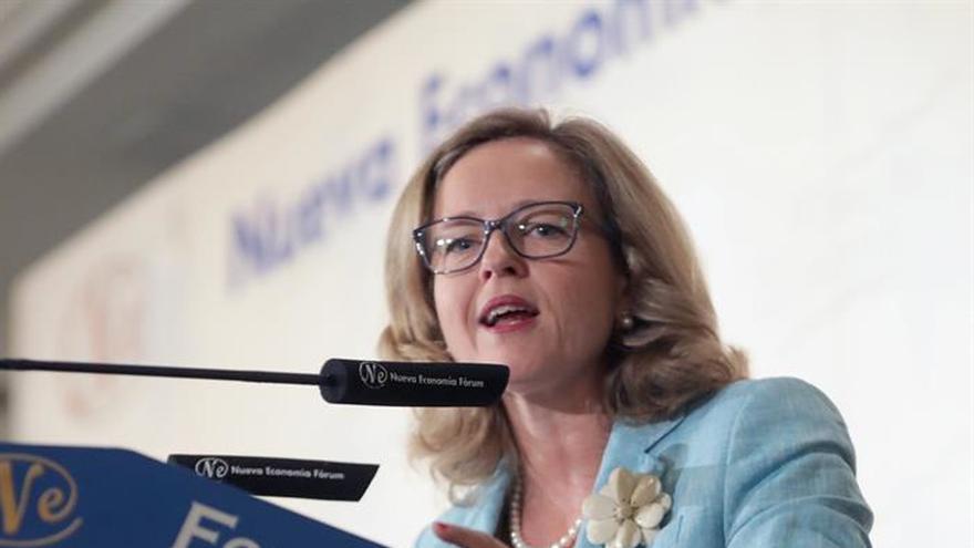 La ministra de Economía y Empresa, Nadia Calviño en una imagen de archivo
