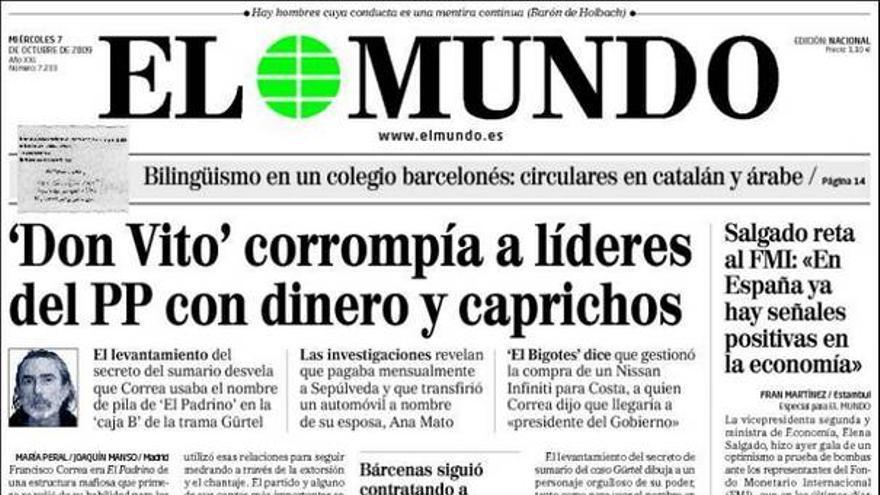 El 'caso Gürtel' invade las portadas de los principales periódicos nacionales #2