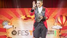 Luis Larrodera, en la gala de clausura de la edición de 2018