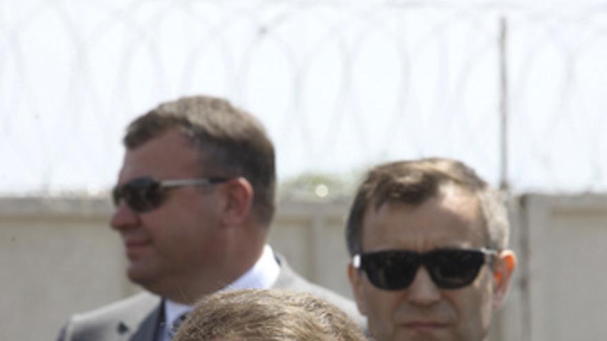 El presidente ruso Medvedev, con agentes del servicio secreto