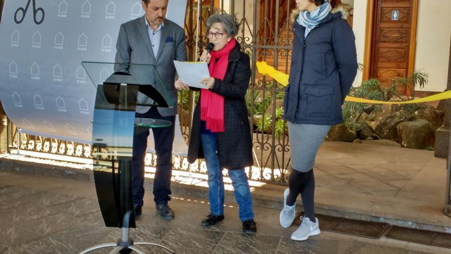 El alcalde de Garafía, Martín Taño, presidió el acto de 'Ciudad acogedora'.
