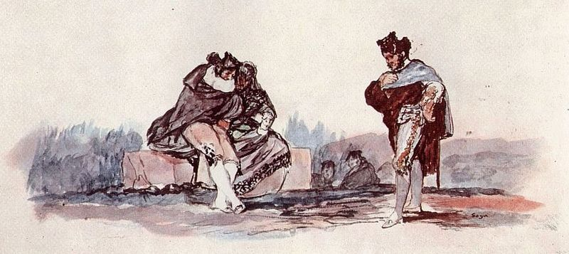 Majos. Acuarela de Francisco de Goya | http://commons.wikimedia.org