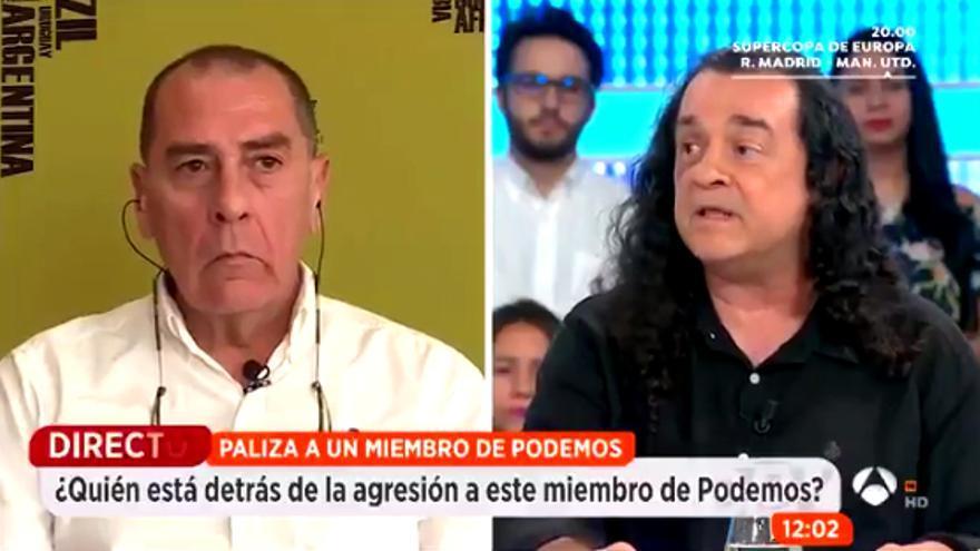 Fernando Barredo y su presunto agresor en Espejo Público
