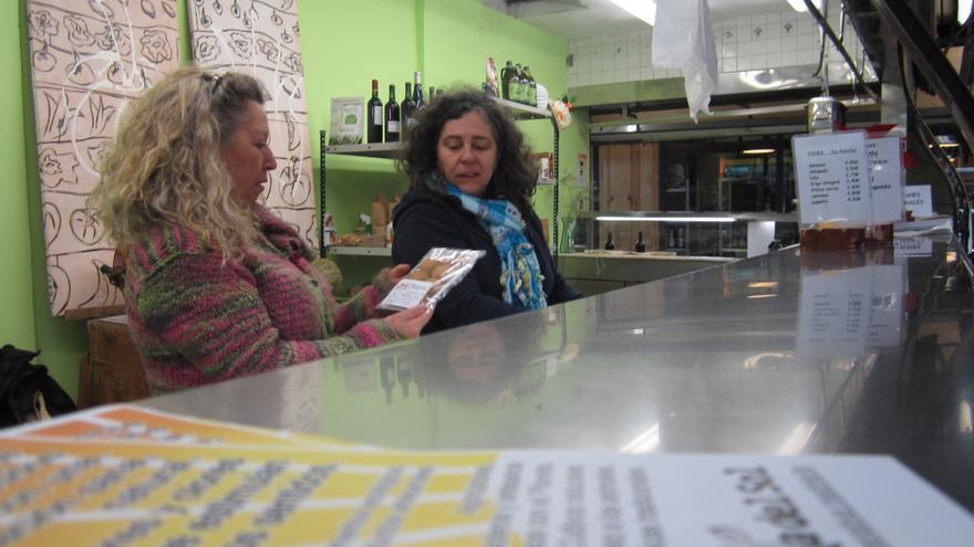 Cooperativa 'La huerta de Sol' en el Mercado de San Fernando de Madrid. A.R