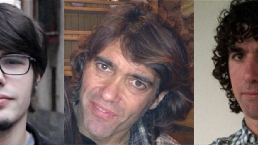 Lander Martínez, vencedor en Bilbao (aunque los resultados están siendo analizados); Fernando Iglesias, en Vitoria y Hannot Sansinenea en San Sebastián./ Foto: Podemos.