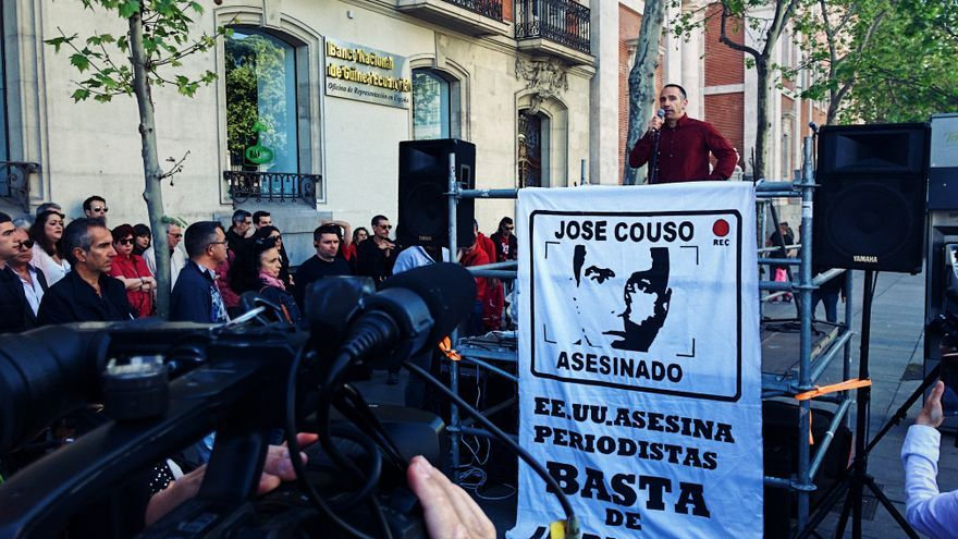Manifestación en recuerdo a José Couso