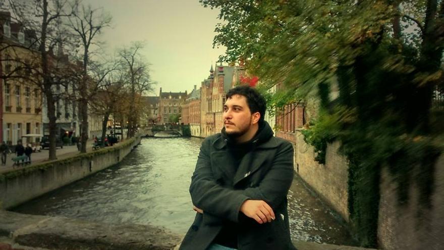 Salvador J. Tamayo, en Brujas (Bélgica).