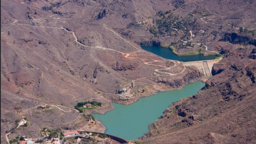 Los embalses en Gran Canaria están al 23% de su capacidad. Foto de 'El coleccionista de imágenes'